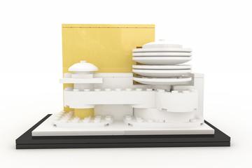 Guggenheim museum made by plastic bricks
