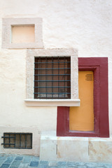 Art deco style wall with square windows