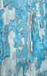Abgeblättertes Holz als Hintergrund in grau blau