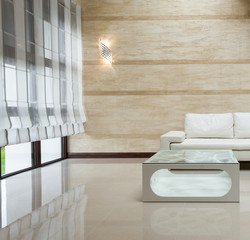 White sofa modern interior