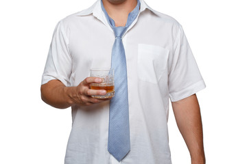 Man with alcohol in hand