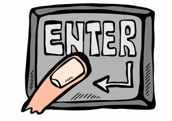 doodle button enter