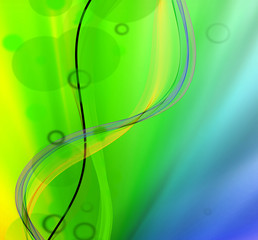 Abstract wave light background