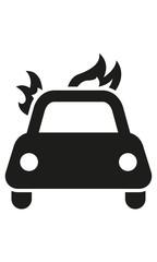 Brennendes Auto