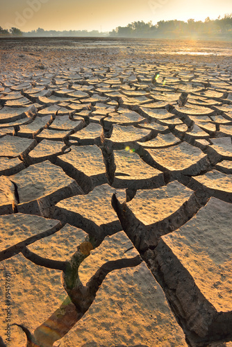 Poster Droogte drought land