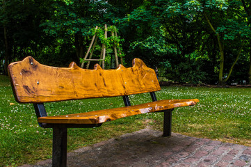 Wooden Bench, London