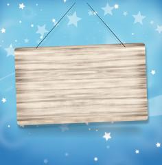 Stars Landscape Wood Board