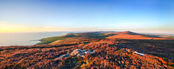 Panoramic view from Cronk ny Arrey Laa - Isle of Man