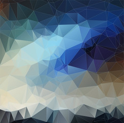 Abstract blue 2D polygonal background