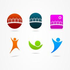 Graphic design social network icon
