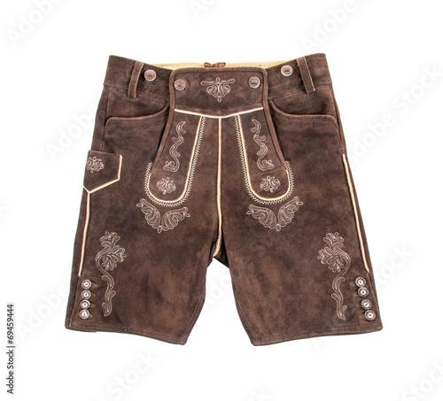 Leinwandbild Motiv Bayerische Lederhose