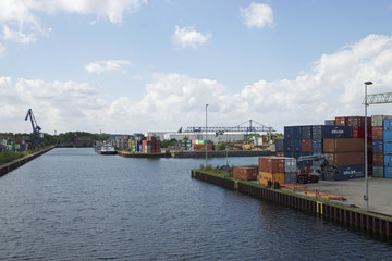 Container harbor Dortmund, Germany