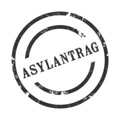 sk3 - StempelGrafik Rund - Asylantrag - g1390