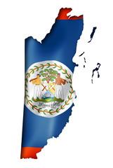 Belize flag map