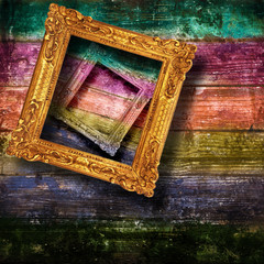 grunge arcobaleno con cornici
