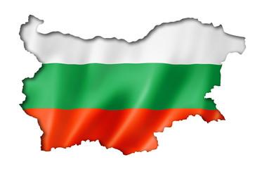 Bulgarian flag map