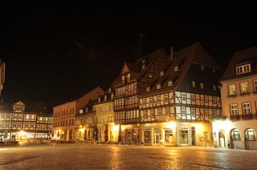 Quedlinburg at night, Germany