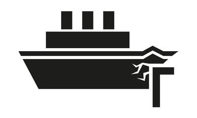 Schiff rammt Dock