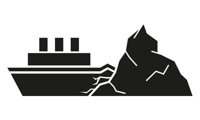 Schiff rammt Eisberg
