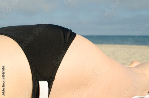canvas print picture At the beach