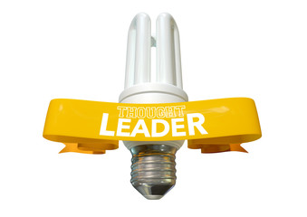 Thought Leader Light Bulb And Banner