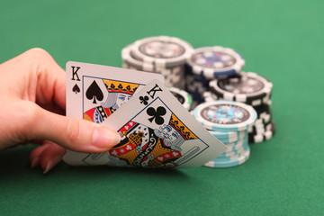 Pokerspieler in Aktion
