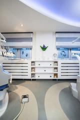 Shelfs in Dentist Office