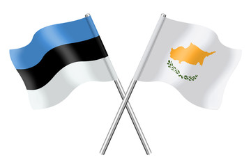 Flags : Estonia and Cyprus