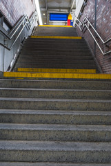 Stairs to the railway station