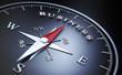 Leinwandbild Motiv Kompass - Business