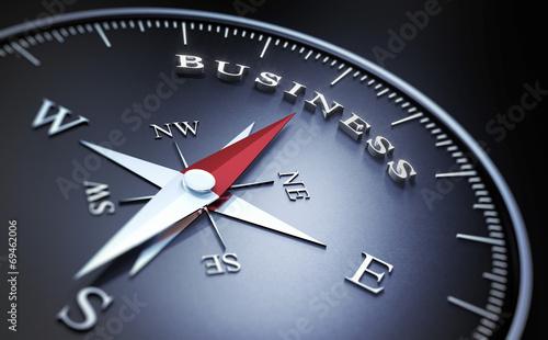 Leinwandbild Motiv - peterschreiber.media : Kompass - Business