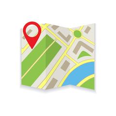 Icon foldable maps