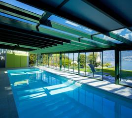 Architecture, swimming pool in interior