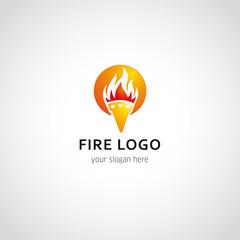 fire logo sun