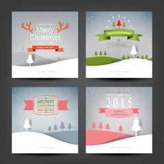 merry christmas card.vector