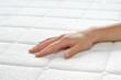 Leinwanddruck Bild - Choosing mattress and bed.
