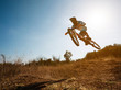 Bike jump. Downhill mountain biking. - 69463678