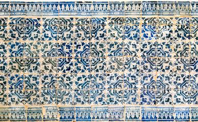 Blue, white and yellow azulejos