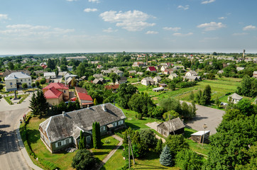 Aerial view of Veliuona, Lithuania