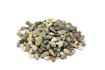 crushed stone on a white background