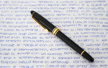 letter with pen