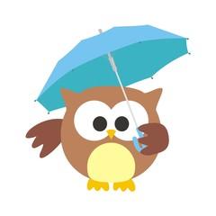 buho con paraguas