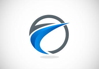 finance round arrow loop vector logo