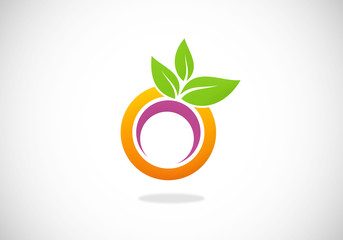 juice abstract round vector logo