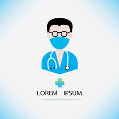 Medical design doctor icon.vector illustration