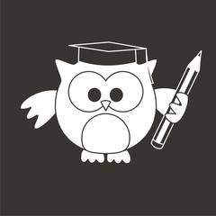 buho con lápiz BN