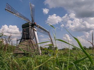 Windmill in Drenthe from low perspective