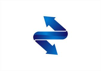 arrow on stairs vector