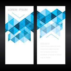 Abstract colorful geometric triangular backgrounds. vector moder
