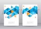 Abstract colorful geometric triangular backgrounds. vector moder poster